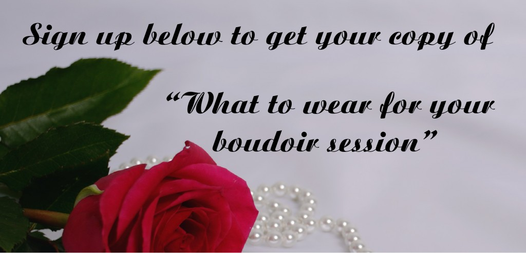 What to wear for you boudoir session sign up page